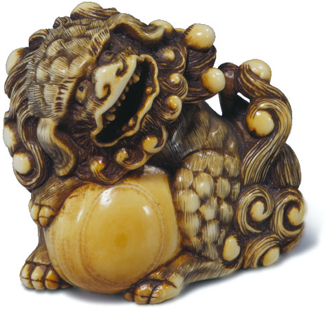 Shishi, attr Harutada, Scholten,  similar to shishi signed Harutada, catalogue no. 146 in Eskenazi's Japanese Netsuke from the Carré Collection, London, June 1993.jpg